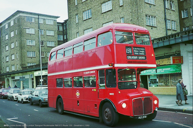 RM1872 on Streatham High Road circa 1989